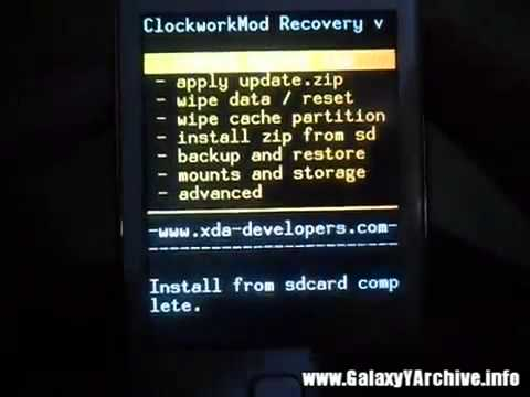 Update Galaxy Y S5360 to Android 4 1 Jelly Bean Blast Custom Firmware   All updates
