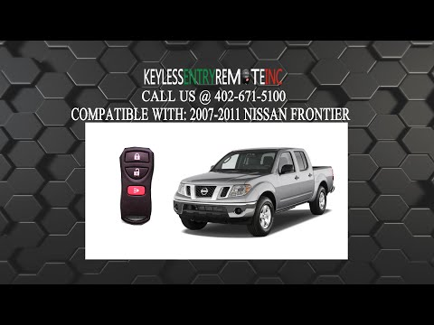How To Replace Nissan Frontier Key Fob Battery 2007 2008 2009 2010 2011