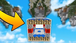 The BEST TRAP EVER in Minecraft SKYWARS...