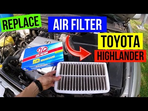 How To Replace Toyota Highlander Air Filter -Jonny DIY