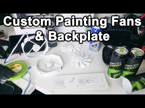 All White PC Build Vlog   How To Custom Paint Fans &  GPU Backplate