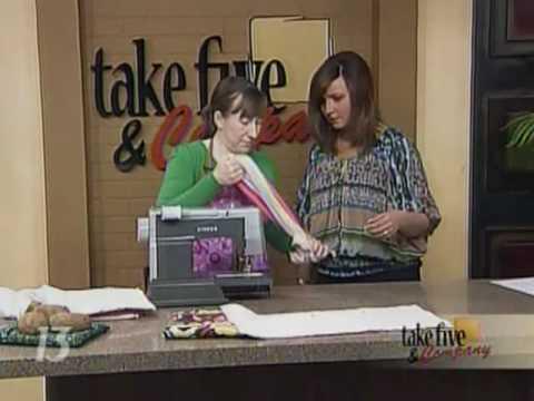 CraftSanity on TV: Making a microwave potato bag