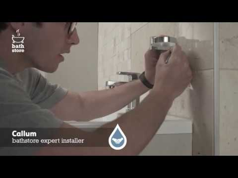 bathstore: How to install a toothbrush holder