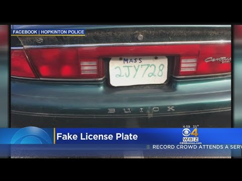 Man Facing Charges For Pizza Box License Plate