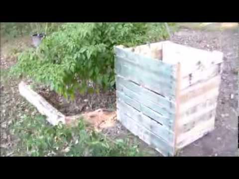 Potato Bin Out of Wood Pallets