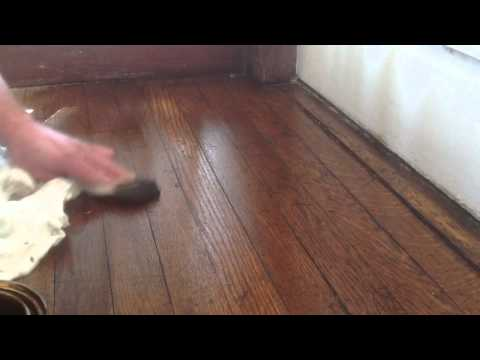 Blending oak wood floors without sanding with stain