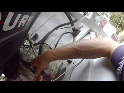 boat steering cable replacement - part 1 (removing cable) - diy - rotary steering system