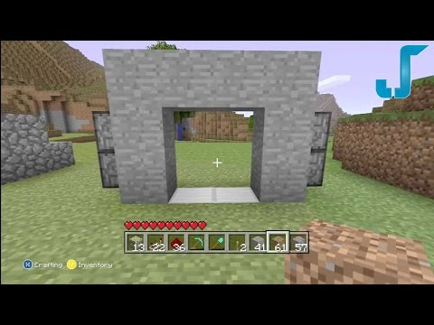 Minecraft Xbox: 2x2 Secret Piston Door [TUTORIAL] w/Levers