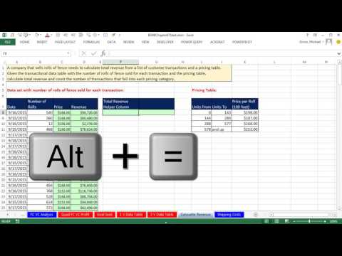 Basic Excel Business Analytics #08: Total Revenue Calculation: VLOOKUP or LOOKUP/SUMPRODUCT?