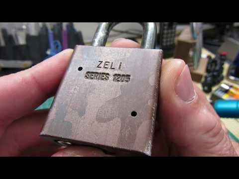 (326) American Lock A1205 Picked and Gutted