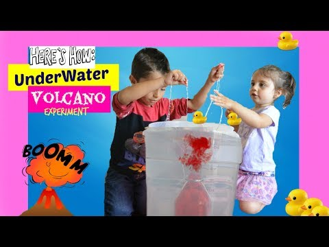 HOW TO MAKE UNDERWATER VOLCANO KIDS SCIENCE EXPERIMENT AT HOME