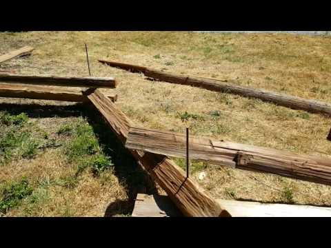 Split rail (zig zag) fence made EASY!