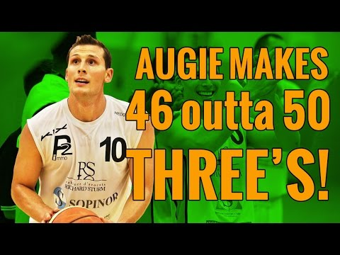 Augie Johnston Makes 46 Out Of 50 Threes | Straight Basketball Shots