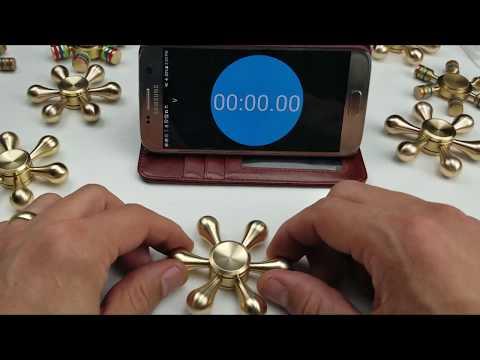 6 Minute Brass Fidget Spinner Spin- The Best Hand Spinner!!!!!!!!!!