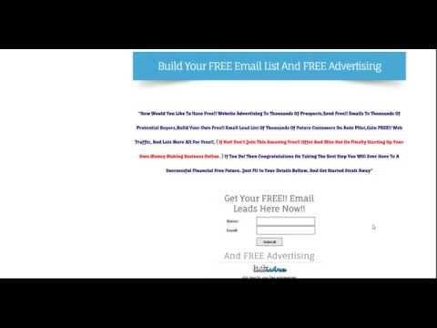 Affiliate Marketing,Build Your FREE Email List And FREE Advertising