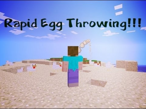 Minecraft Pocket Edition 0.7.5- Rapid Egg Throwing Bug!