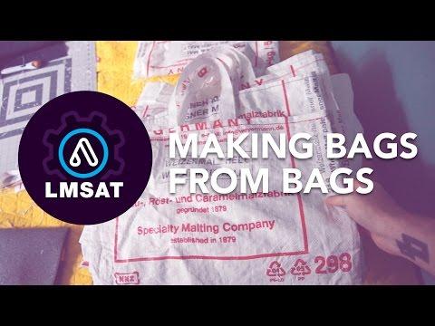Making bags from bags! Reclaimed grain bag totes - LMSAT