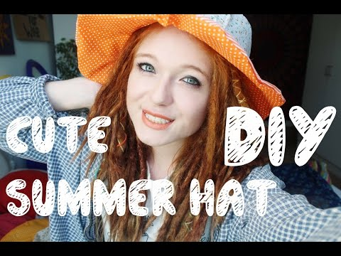 DIY! HOW TO MAKE A CUTE SUMMER HAT