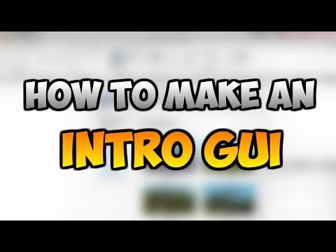 ROBLOX: How to make an Intro GUI 2017!!!