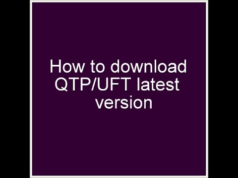How to download QTP/UFT latest version by CDD