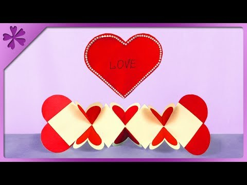 DIY How to make Valentine's Day squash card (ENG Subtitles) - Speed up #450