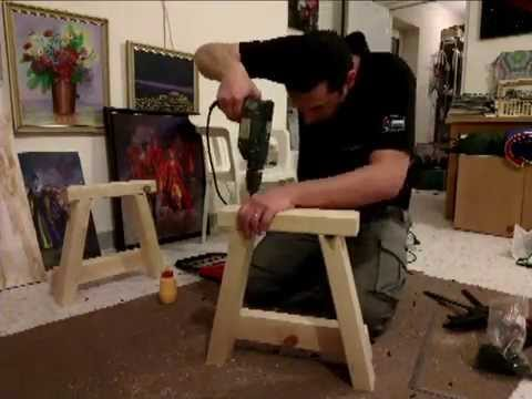 building a wood bench 4 minutes time lapse