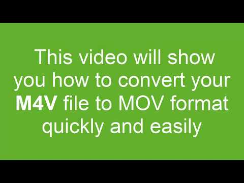 How to Convert M4V to MOV