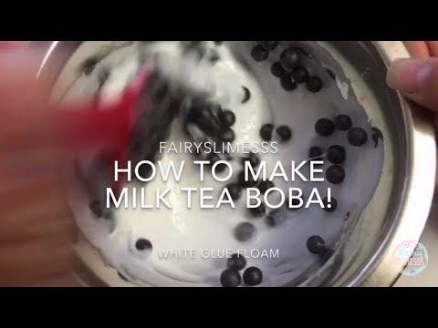 How to Make Milk Tea Boba Slime! DIY Slime Recipe Tutorial! | Fairyslimesss 2017