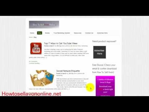 How to sell Avon online: Create your own blog