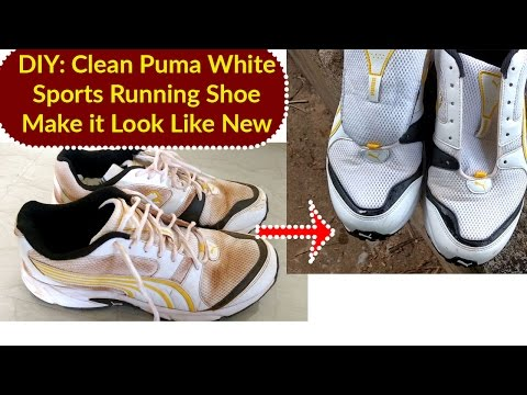 DIY : How to Clean Puma White Sports Running Shoe Can You Use Water