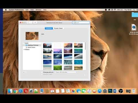 How to change wallpaper in MacBook Pro