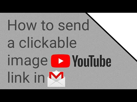 How to send a clickable image YouTube link in Gmail