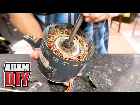 How to oil electric HVAC fan motors with no port - Squeaky Furnace Repair