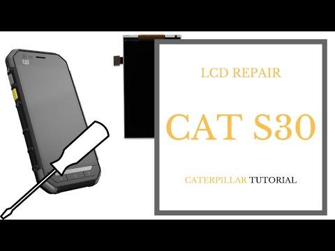CAT S30 - Caterpillar LCD replacement - repair tutorial CrocFIX