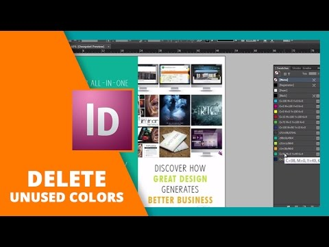 Easily Get Rid of Unused Color Swatches in InDesign //DESIGN LIKE A PRO