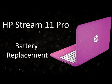 HP Stream 11 Pro Notebook TPN-Q154 Battery Replacement