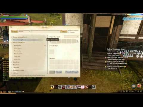 Archeage Quest Allie's Secret - How To Make Veiled Flame (Minor Healing Potion)