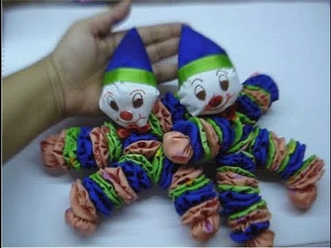 How to make Recycled Cloth Clown / Joker