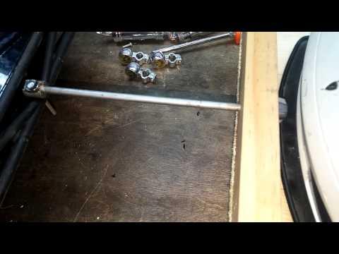 Homemade wooden rc trailer