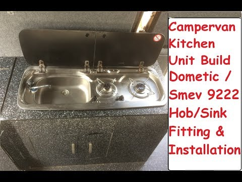 Campervan DIY Kitchen Unit Build & Smev Dometic 9222 Fitting & Installation Guide VW T4