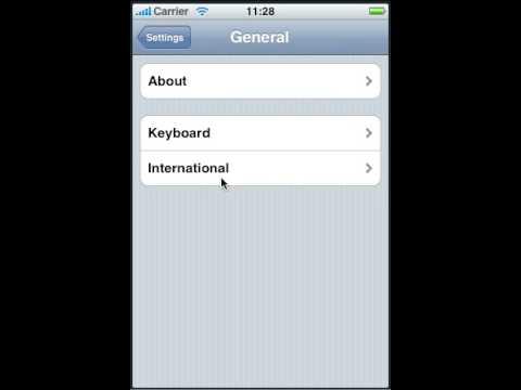 iPhone Application Language Settings