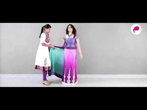 How to wear a Lehenga Saree