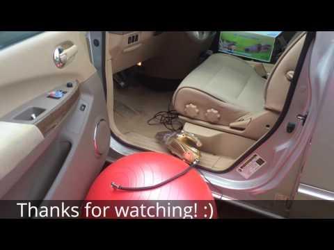 Car vacuum cleaner with air pump - handheld unit plugs into cigarette lighter