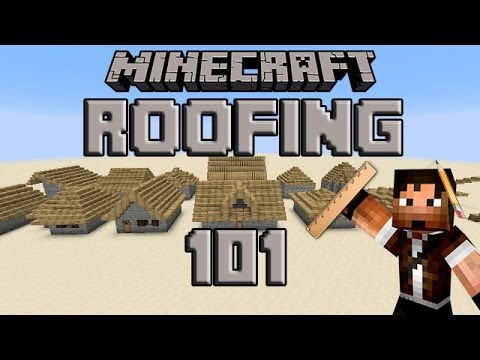 How to Build a Roof in Minecraft - Slopes and Styles (Tutorial)