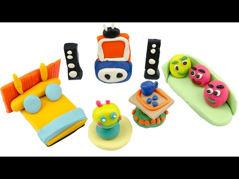 Play Doh Creations Fun for Kids & DIY Lovely Living Room with Play Doh