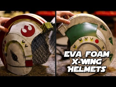 Build Your Own X-Wing Helmet EVA foam Tutorial  - Intro