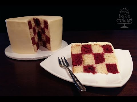 How to make a round Checkered Board Cake - TUTORIAL