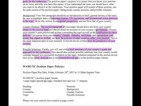 How to Write Position Papers