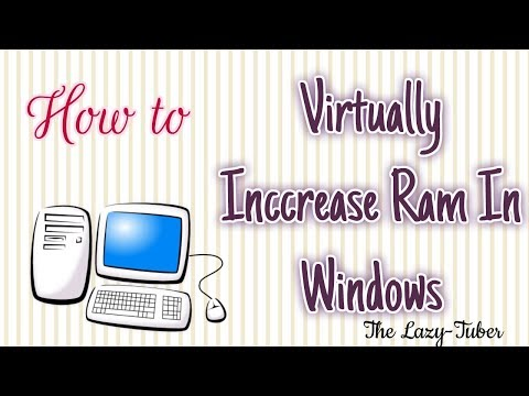 Make comuter faster by upgrading Virtual RAM
