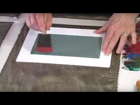 Fabric Surface Design - Painting through Silkscreens and How to Clean Silkscreens
